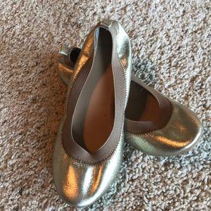 Crewcuts J. Crew Girls Gold Ballet Flats, Sz 3